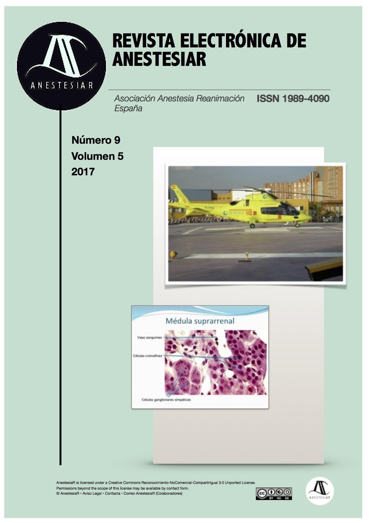 Ver Vol. 9 Núm. 5 (2017): Revista Electrónica de AnestesiaR