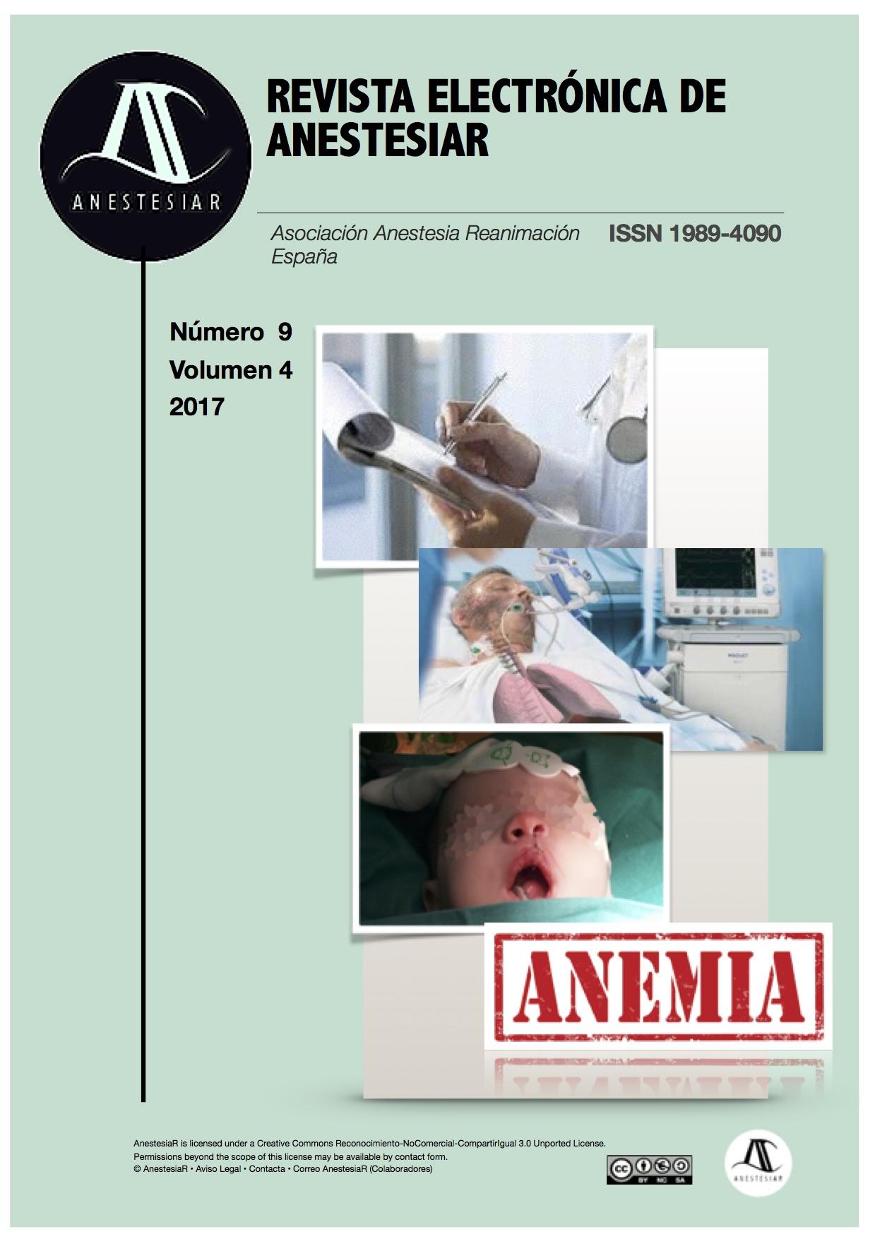 Ver Vol. 9 Núm. 4 (2017): Revista Electrónica de AnestesiaR
