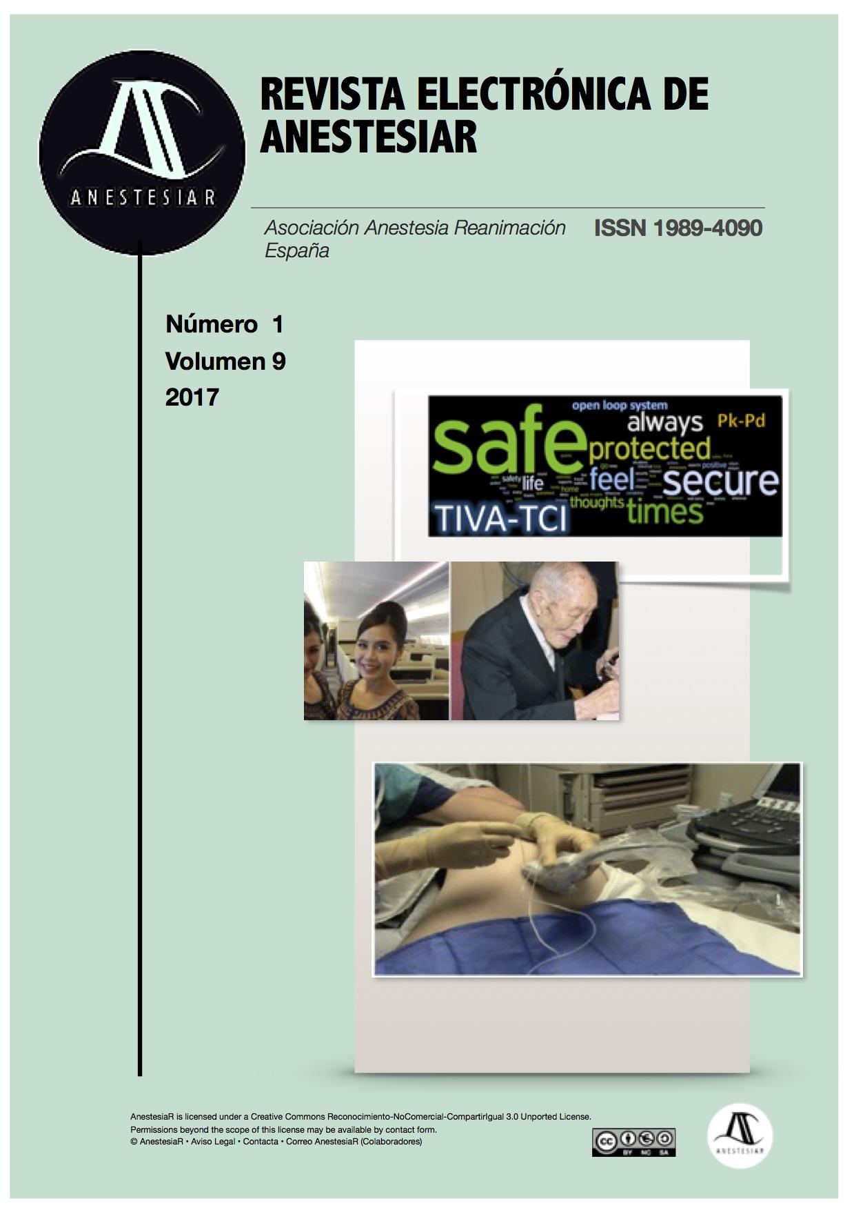 Ver Vol. 9 Núm. 1 (2017): Revista Electrónica de AnestesiaR