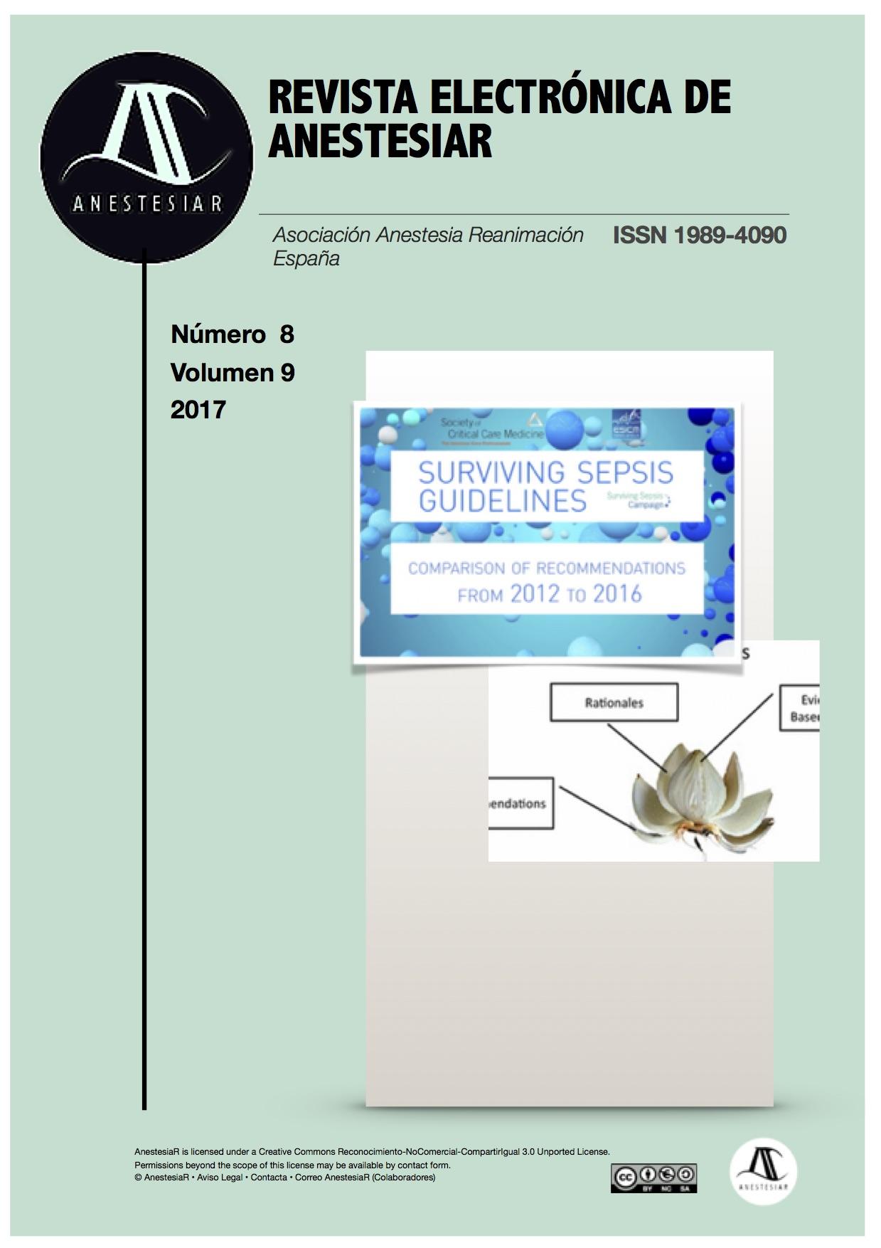 Ver Vol. 9 Núm. 8 (2017): Revista Electrónica de AnestesiaR