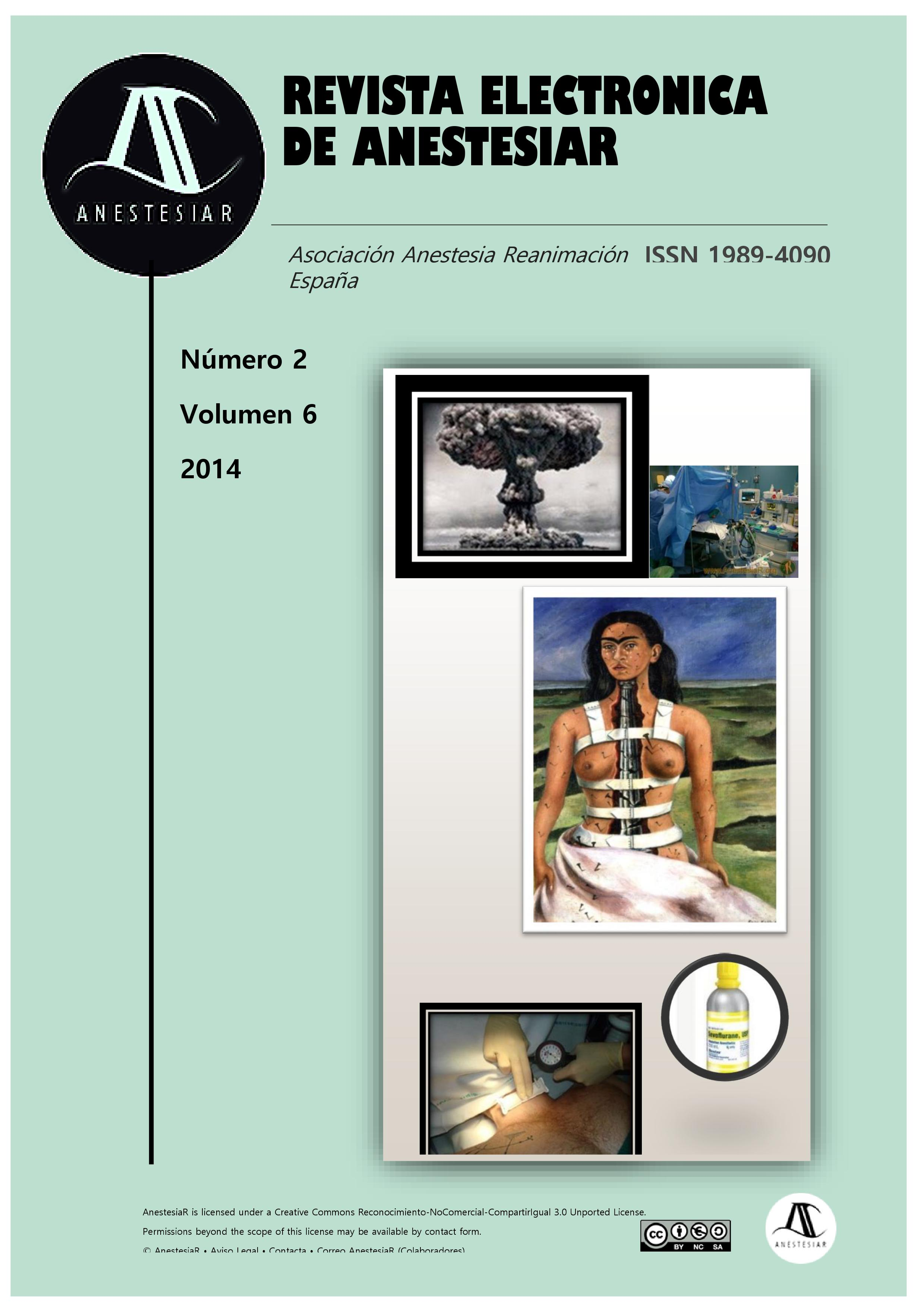 Ver Vol. 6 Núm. 2 (2014): Revista Electrónica de AnestesiaR
