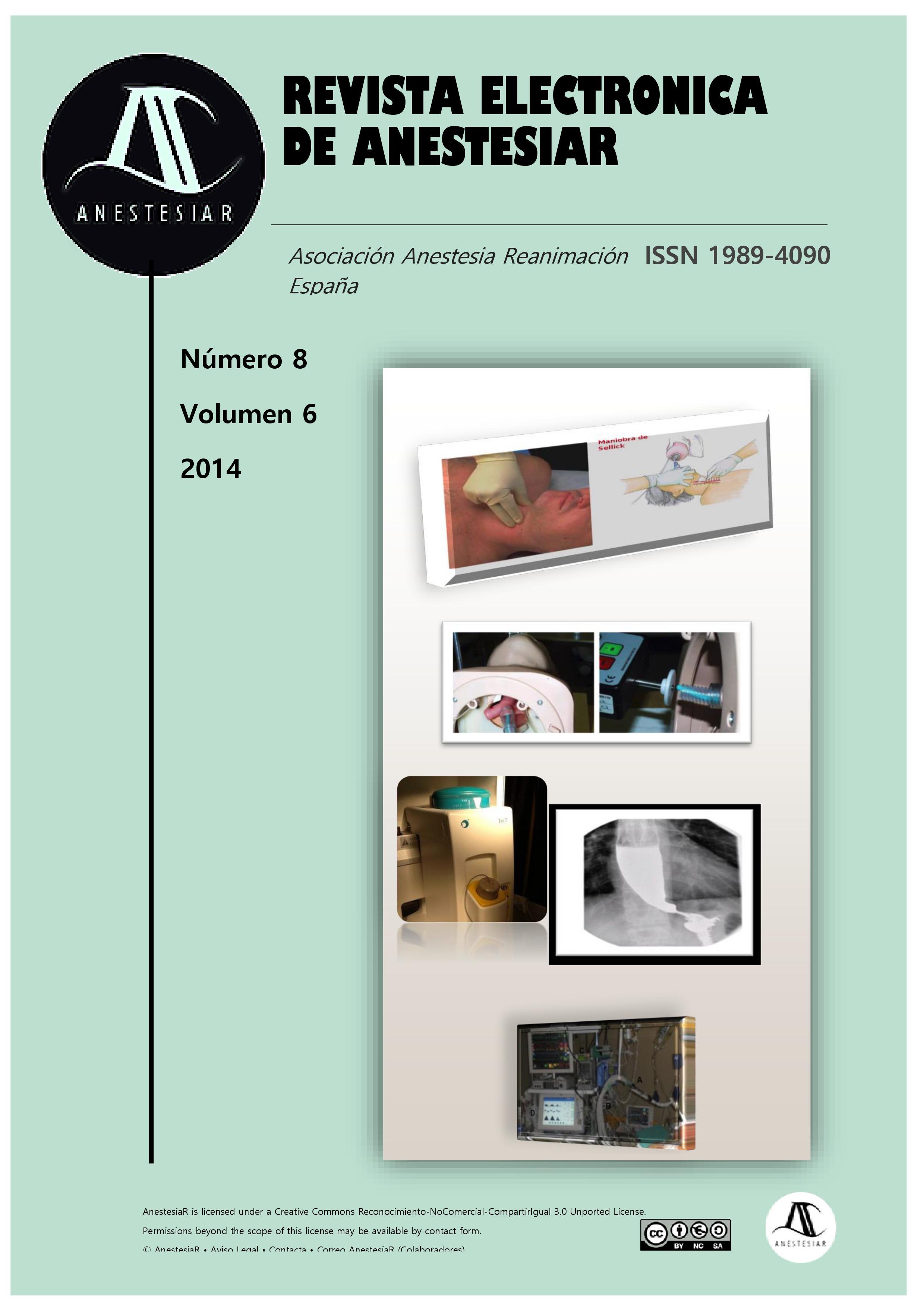 Ver Vol. 6 Núm. 8 (2014): Revista Electrónica de AnestesiaR
