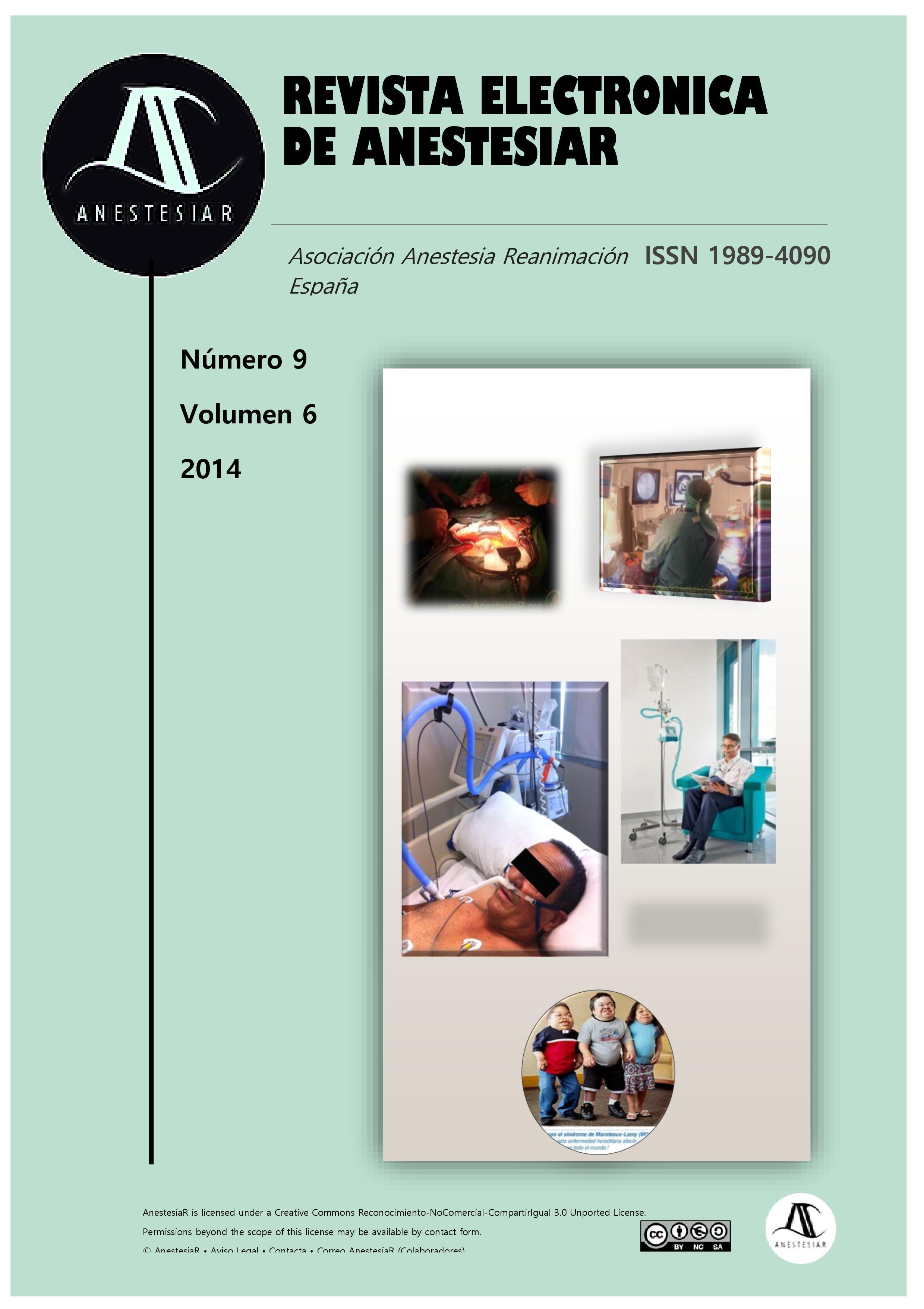 Ver Vol. 6 Núm. 9 (2014): Revista Electrónica de AnestesiaR