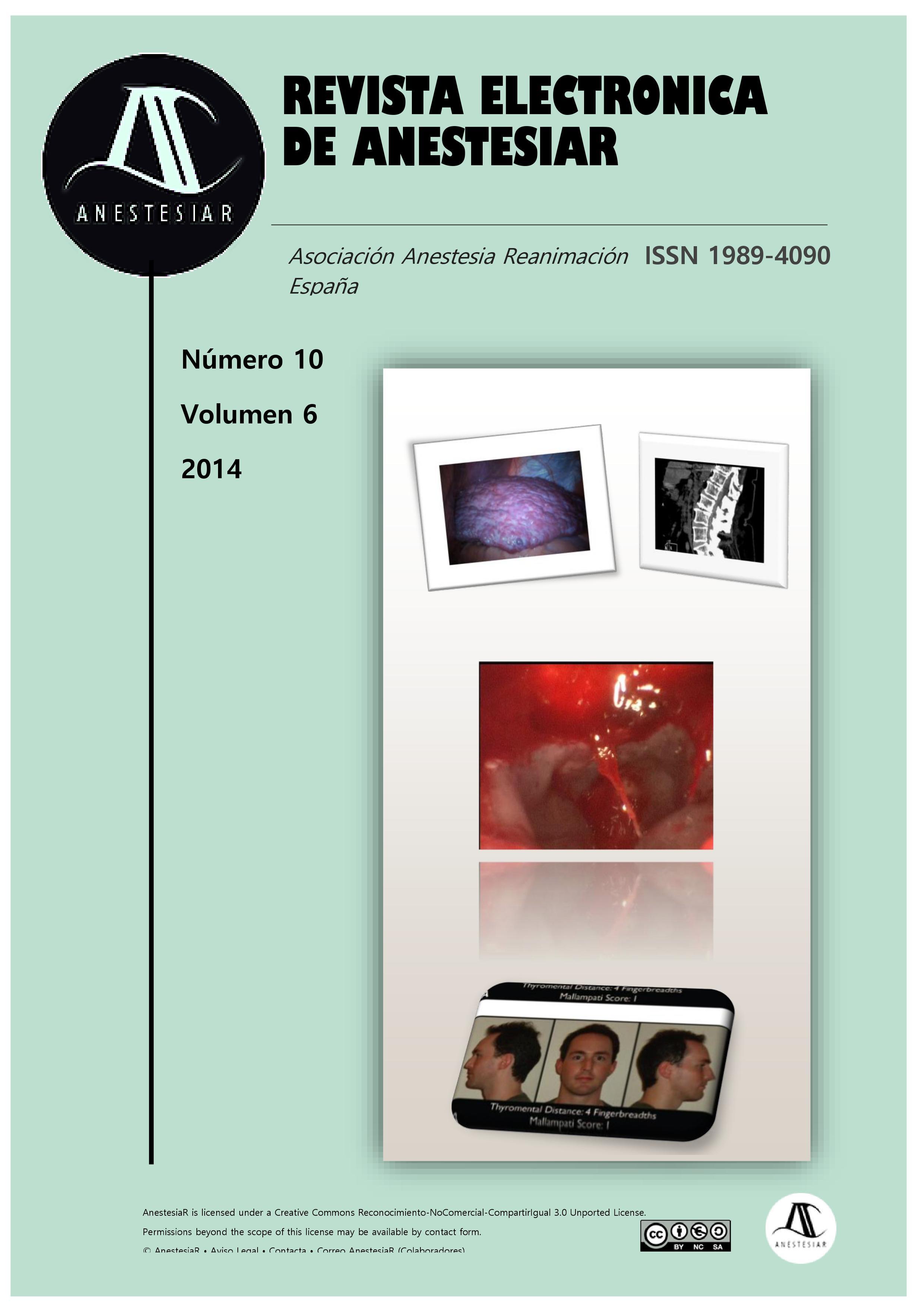 Ver Vol. 6 Núm. 10 (2014): Revista Electrónica de AnestesiaR