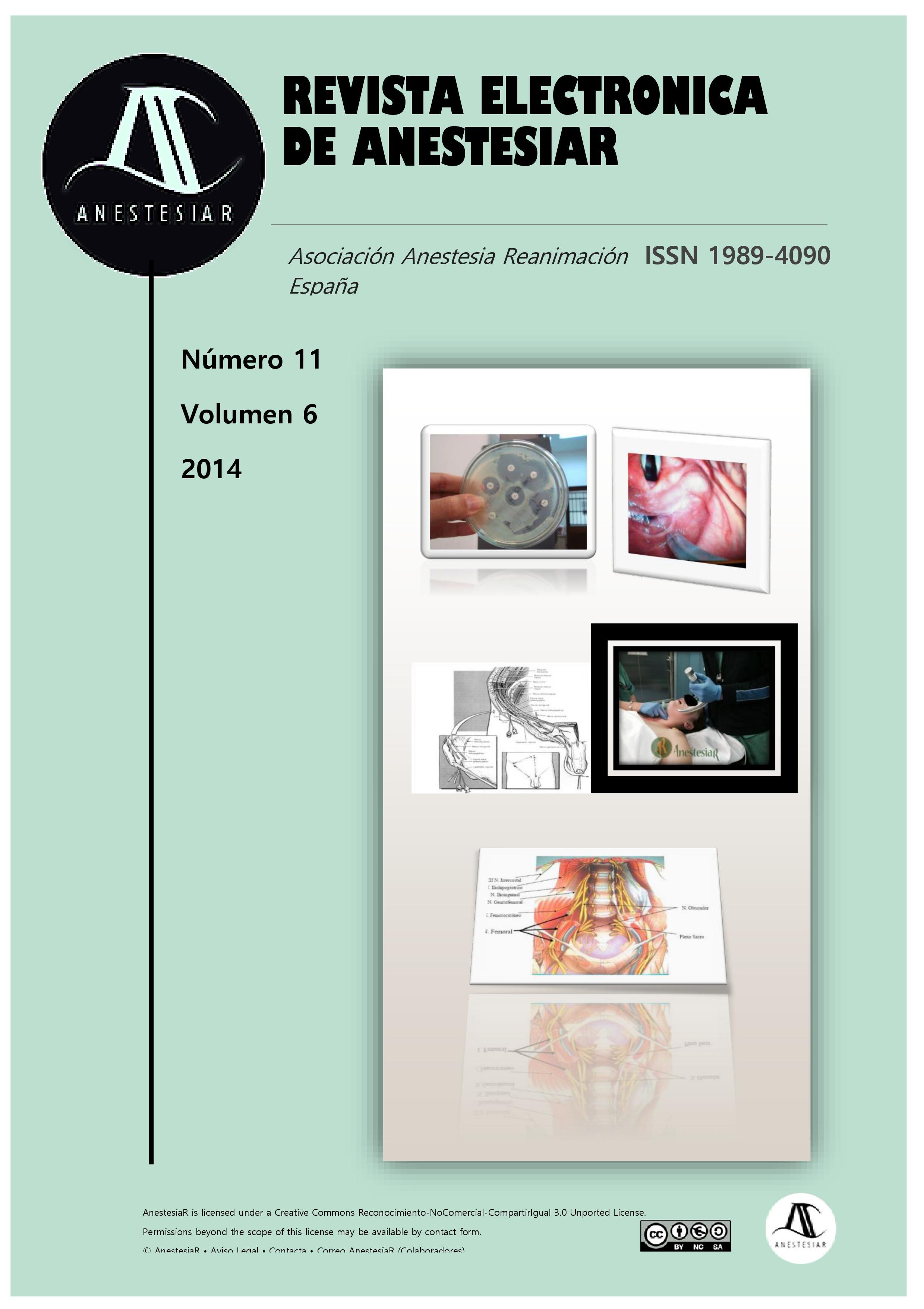 Ver Vol. 6 Núm. 11 (2014): Revista Electrónica de AnestesiaR