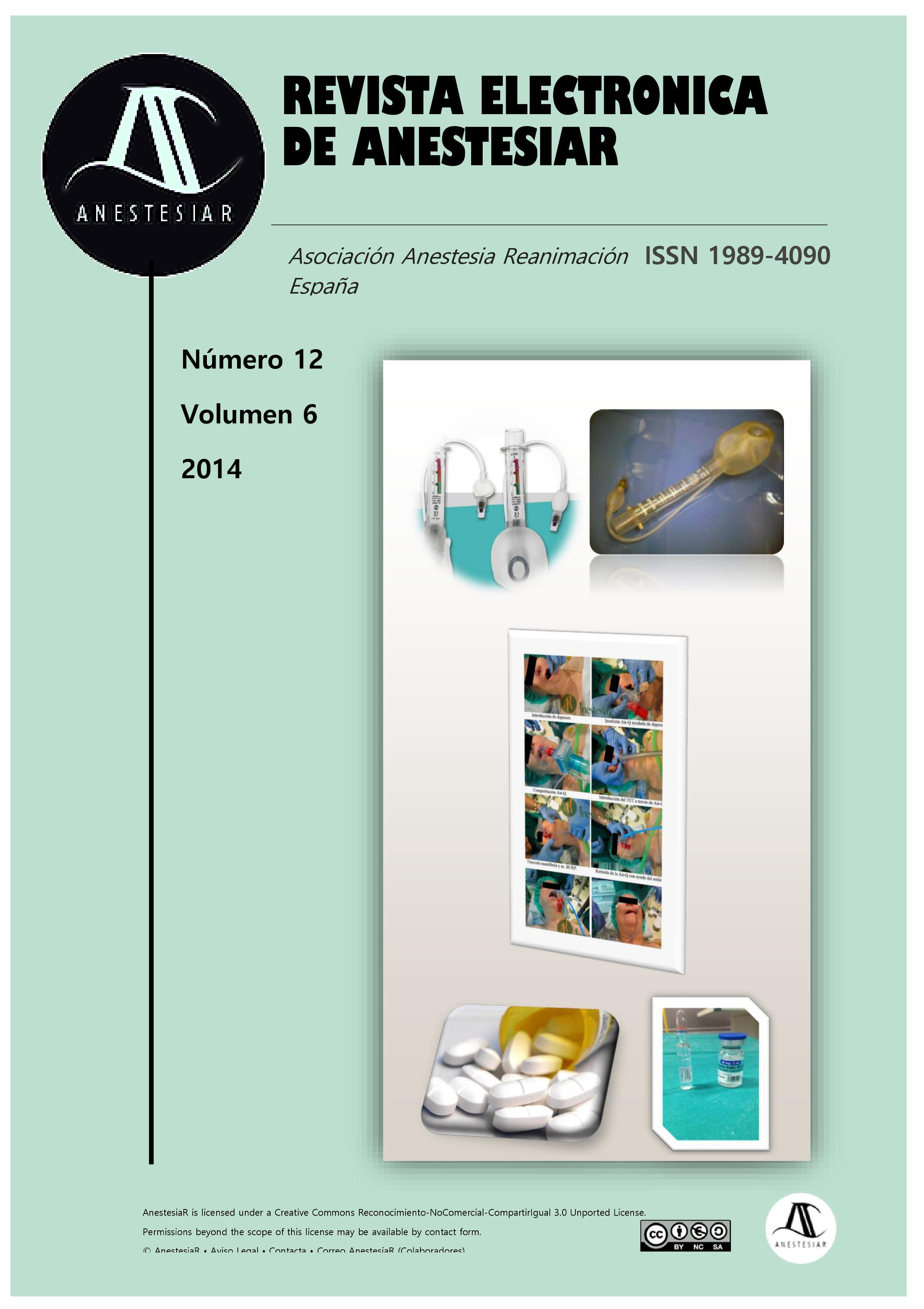 Ver Vol. 6 Núm. 12 (2014): Revista Electrónica de AnestesiaR